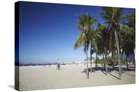 Copacabana Beach, Rio de Janeiro, Brazil, South America-Ian Trower-Stretched Canvas Print