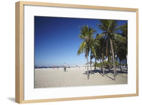 Copacabana Beach, Rio de Janeiro, Brazil, South America-Ian Trower-Framed Art Print