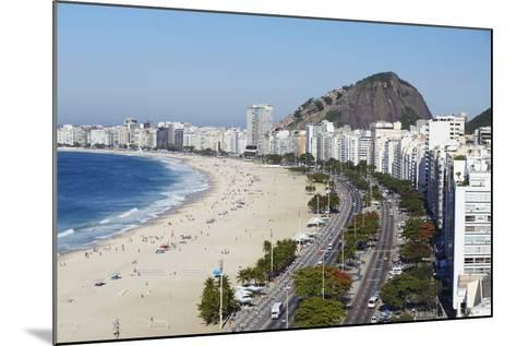 View of Copacabana Beach and Avenida Atlantica, Copacabana, Rio de Janeiro, Brazil, South America-Ian Trower-Mounted Photographic Print