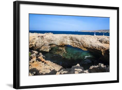 Natural Bridge, Aruba, ABC Islands, Netherland Antilles, Caribbean, Central America-Michael Runkel-Framed Art Print