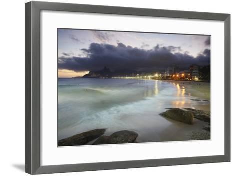 Ipanema Beach at Sunset, Rio de Janeiro, Brazil, South America-Ian Trower-Framed Art Print
