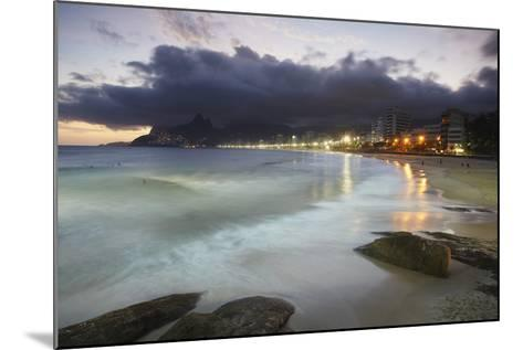 Ipanema Beach at Sunset, Rio de Janeiro, Brazil, South America-Ian Trower-Mounted Photographic Print