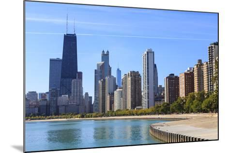 Chicago Cityscape from North Avenue Beach, John Hancock Center on the Left, Chicago, Illinois, USA-Amanda Hall-Mounted Photographic Print