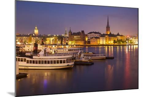 City Skyline from City Hall at Dusk, Kungsholmen, Stockholm, Sweden, Scandinavia, Europe-Frank Fell-Mounted Photographic Print