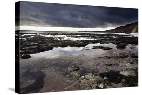 Dramatic Sky over Bridligton from Sewerby Rocks, East Riding of Yorkshire, England, United Kingdom-Mark Sunderland-Stretched Canvas Print