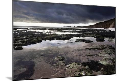 Dramatic Sky over Bridligton from Sewerby Rocks, East Riding of Yorkshire, England, United Kingdom-Mark Sunderland-Mounted Photographic Print