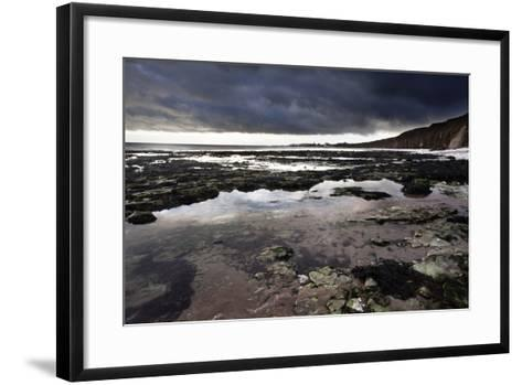 Dramatic Sky over Bridligton from Sewerby Rocks, East Riding of Yorkshire, England, United Kingdom-Mark Sunderland-Framed Art Print