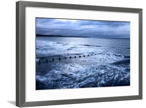 Toward Flamborough Head from Bridlington Harbour at Dusk, East Riding of Yorkshire, England, UK-Mark Sunderland-Framed Art Print