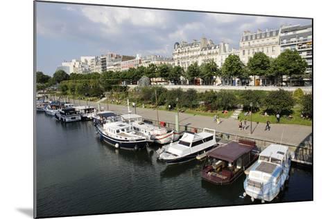 Paris Bastille Harbour, Paris, France, Europe-Godong-Mounted Photographic Print