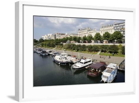 Paris Bastille Harbour, Paris, France, Europe-Godong-Framed Art Print