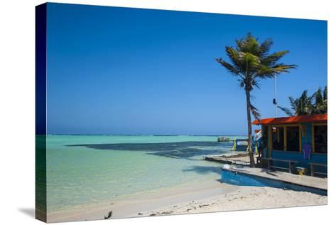 Turquoise Water Lac Bay, Bonaire, ABC Islands, Netherlands Antilles, Caribbean, Central America-Michael Runkel-Stretched Canvas Print