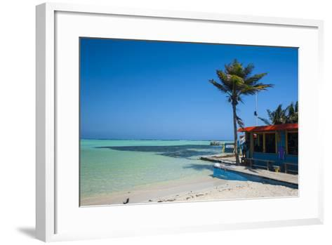 Turquoise Water Lac Bay, Bonaire, ABC Islands, Netherlands Antilles, Caribbean, Central America-Michael Runkel-Framed Art Print