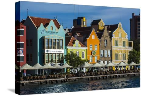 The Dutch Houses at Sint Annabaai in Willemstad, UNESCO Site, Curacao, ABC Is, Netherlands Antilles-Michael Runkel-Stretched Canvas Print