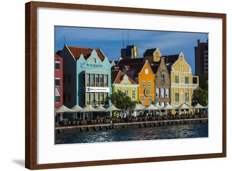 The Dutch Houses at Sint Annabaai in Willemstad, UNESCO Site, Curacao, ABC Is, Netherlands Antilles-Michael Runkel-Framed Art Print
