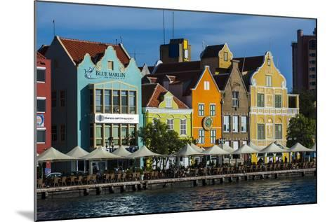 The Dutch Houses at Sint Annabaai in Willemstad, UNESCO Site, Curacao, ABC Is, Netherlands Antilles-Michael Runkel-Mounted Photographic Print
