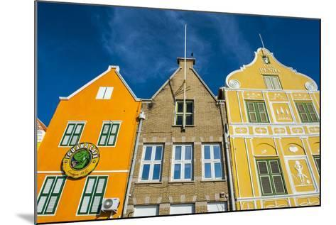 The Colourful Dutch Houses at Sint Annabaai, UNESCO Site, Curacao, ABC Island, Netherlands Antilles-Michael Runkel-Mounted Photographic Print