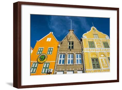 The Colourful Dutch Houses at Sint Annabaai, UNESCO Site, Curacao, ABC Island, Netherlands Antilles-Michael Runkel-Framed Art Print