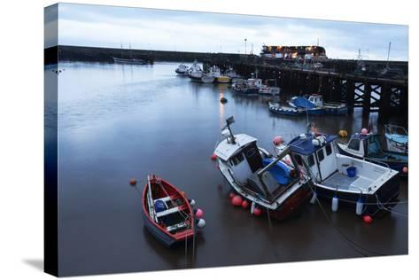 Fishing Boats in the Harbour at Bridlington, East Riding of Yorkshire, Yorkshire, England, UK-Mark Sunderland-Stretched Canvas Print
