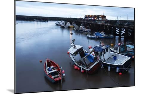 Fishing Boats in the Harbour at Bridlington, East Riding of Yorkshire, Yorkshire, England, UK-Mark Sunderland-Mounted Photographic Print