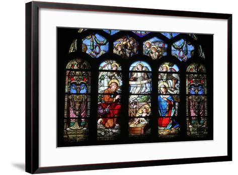 Stained Glass Window Depicting the Nativity, St. Eustache Church, Paris, France, Europe-Godong-Framed Art Print