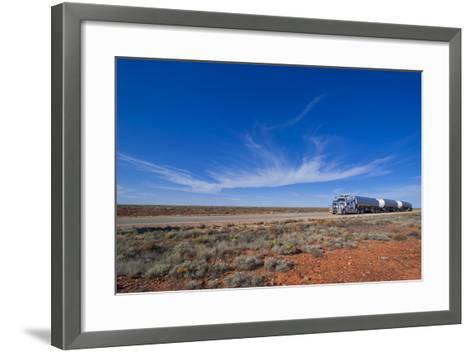 Truck Riding Through the Outback of South Australia, Australia, Pacific-Michael Runkel-Framed Art Print