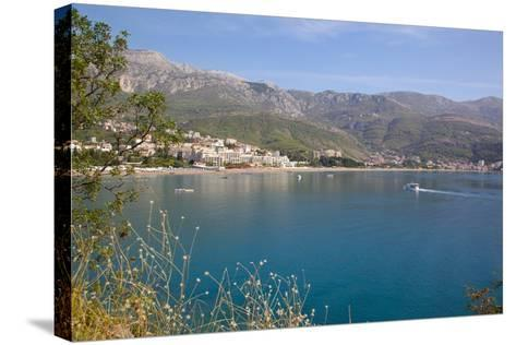 View of Bay, Becici, Budva Bay, Montnegro, Europe-Frank Fell-Stretched Canvas Print