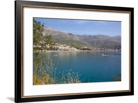 View of Bay, Becici, Budva Bay, Montnegro, Europe-Frank Fell-Framed Art Print