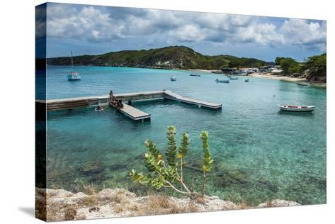 Bay of Kleine St. Michel in Curacao, ABC Islands, Netherlands Antilles, Caribbean, Central America-Michael Runkel-Stretched Canvas Print