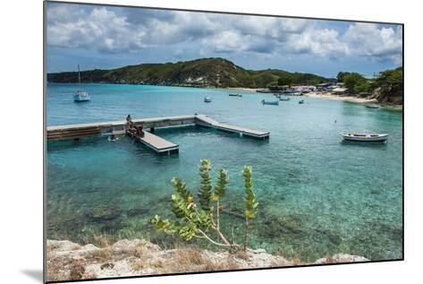 Bay of Kleine St. Michel in Curacao, ABC Islands, Netherlands Antilles, Caribbean, Central America-Michael Runkel-Mounted Photographic Print