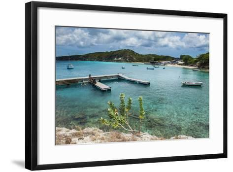 Bay of Kleine St. Michel in Curacao, ABC Islands, Netherlands Antilles, Caribbean, Central America-Michael Runkel-Framed Art Print