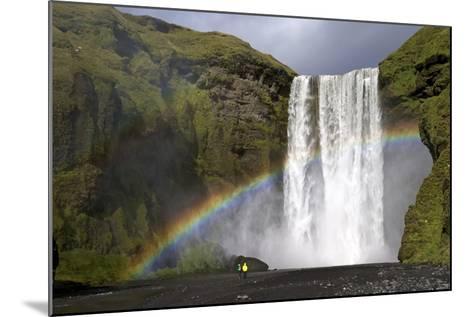 Skogafoss Waterfall with Rainbow in Summer Sunshine, South Coast, Iceland, Polar Regions-Peter Barritt-Mounted Photographic Print