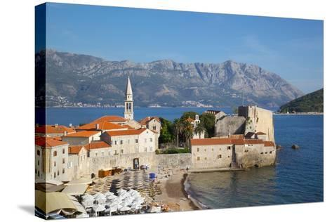 View of Old Town, Budva, Montenegro, Europe-Frank Fell-Stretched Canvas Print