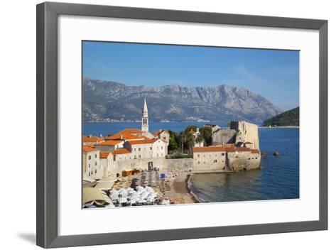 View of Old Town, Budva, Montenegro, Europe-Frank Fell-Framed Art Print
