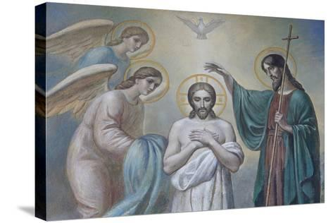 The Baptism of Jesus, Russian Orthodox Church, St. Petersburg, Russia, Europe-Godong-Stretched Canvas Print