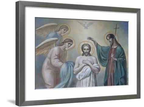 The Baptism of Jesus, Russian Orthodox Church, St. Petersburg, Russia, Europe-Godong-Framed Art Print
