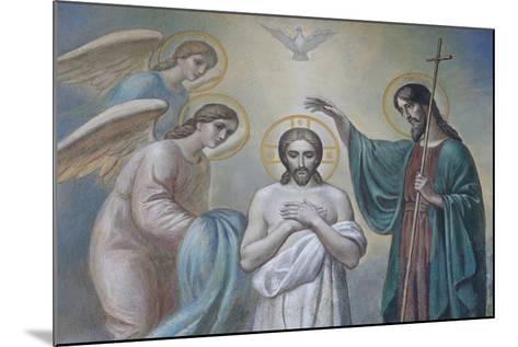The Baptism of Jesus, Russian Orthodox Church, St. Petersburg, Russia, Europe-Godong-Mounted Photographic Print