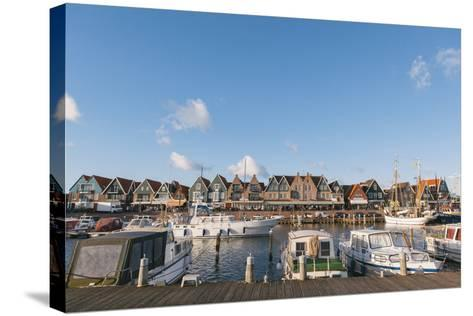 Volendam Harbour, North Holland Province, the Netherlands (Holland), Europe-Mark Doherty-Stretched Canvas Print