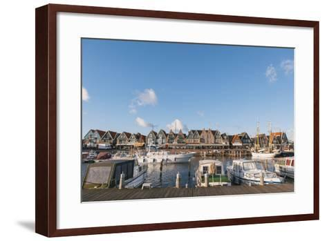 Volendam Harbour, North Holland Province, the Netherlands (Holland), Europe-Mark Doherty-Framed Art Print