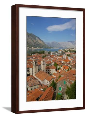 View over Old Town, Kotor, UNESCO World Heritage Site, Montenegro, Europe-Frank Fell-Framed Art Print