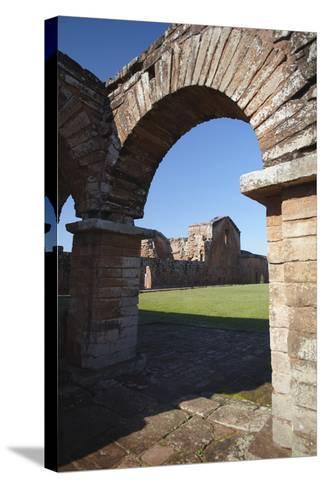 Ruins of Jesuit Mission at Trinidad, UNESCO Site, Parana Plateau, Paraguay-Ian Trower-Stretched Canvas Print