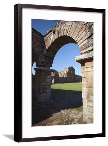 Ruins of Jesuit Mission at Trinidad, UNESCO Site, Parana Plateau, Paraguay-Ian Trower-Framed Art Print