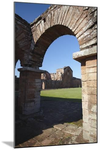 Ruins of Jesuit Mission at Trinidad, UNESCO Site, Parana Plateau, Paraguay-Ian Trower-Mounted Photographic Print