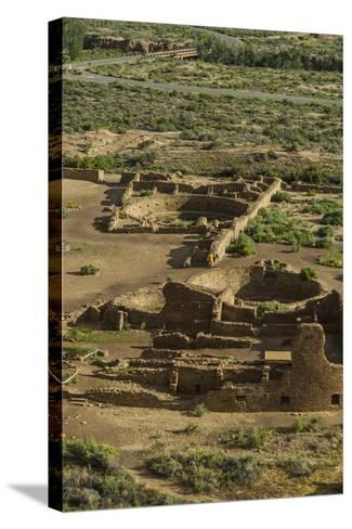 Chaco Ruins in the Chaco Culture Nat'l Historic Park, UNESCO World Heritage Site, New Mexico, USA-Michael Runkel-Stretched Canvas Print