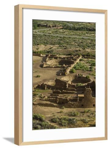Chaco Ruins in the Chaco Culture Nat'l Historic Park, UNESCO World Heritage Site, New Mexico, USA-Michael Runkel-Framed Art Print