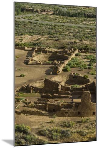Chaco Ruins in the Chaco Culture Nat'l Historic Park, UNESCO World Heritage Site, New Mexico, USA-Michael Runkel-Mounted Photographic Print