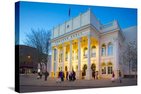 The Theatre Royal at Christmas, Nottingham, Nottinghamshire, England, United Kingdom, Europe-Frank Fell-Stretched Canvas Print