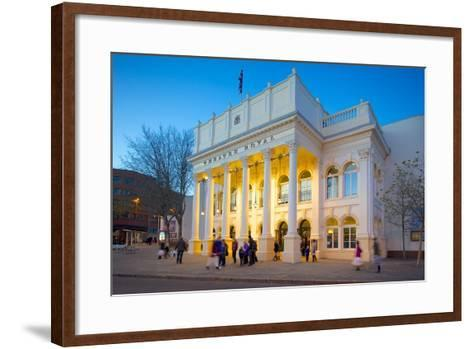 The Theatre Royal at Christmas, Nottingham, Nottinghamshire, England, United Kingdom, Europe-Frank Fell-Framed Art Print