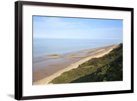 Quiet Beach Between Cromer and Overstrand, Norfolk, England, United Kingdom, Europe-Mark Sunderland-Framed Art Print