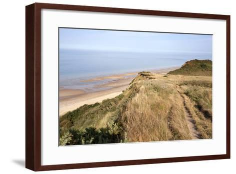 Cliff Path from Cromer to Overstran, Norfolk, England, United Kingdom, Europe-Mark Sunderland-Framed Art Print