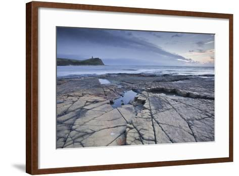 Kimmeridge Bay on the Dorset Coast at Sunset, Jurassic Coast, UNESCO Site, Dorset, England, UK-Julian Elliott-Framed Art Print